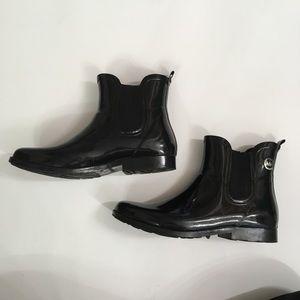 MICHAEL KORS Black Ankle Rain Boots MK Woman's 10